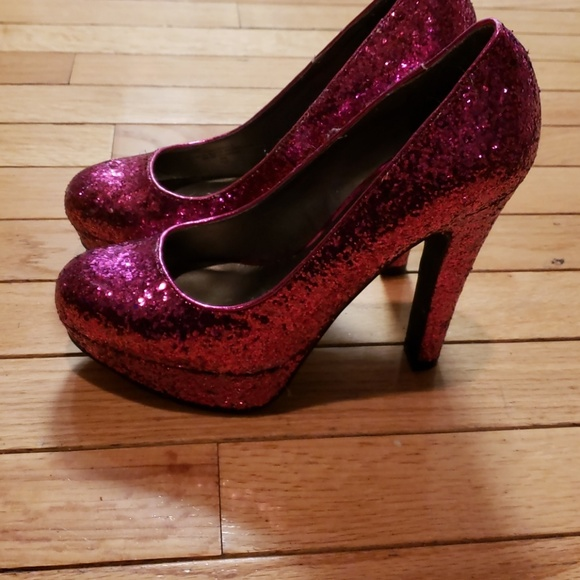 11766052fef Pink glitter stiletto